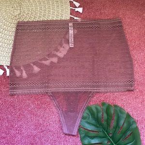 Victoria's Secret High Rise Lace Thong Panty